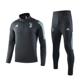 19/20 Juventus Navy Zipper Sweat Shirt Kit(Top+Trouser)