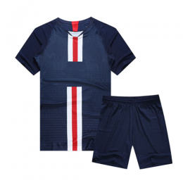PSG Style Customize Team Navy Soccer Jerseys Kit(Shirt+Short)