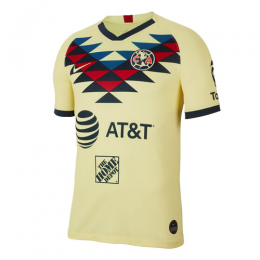 19/20 Club America Home Yellow Soccer Jerseys Shirt(Player Version)