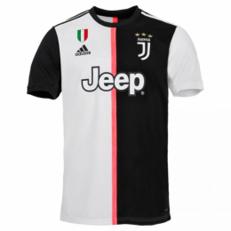 19-20 Juventus Home Black&White Soccer Jerseys Shirt