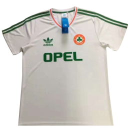 1990 Ireland Away White Retro Soccer Jersey Shirt