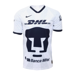 19/20 UNAM Pumas Home White Soccer Jerseys Shirt(Player Version)