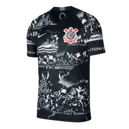 19/20 SC Corinthians Third Away Black Jerseys Shirt(Player Version)