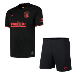 19-20 Atletico Madrid Away Black Soccer Jerseys Kit(Shirt+Short)