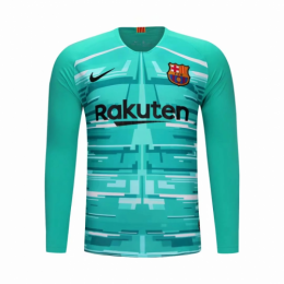 19/20 Barcelona Goalkeeper Blue Long Sleeve Jerseys Shirt
