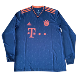 19/20 Bayern Munich Third Away Navy Long Sleeve Jerseys Shirt