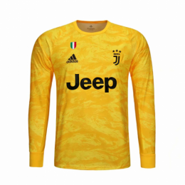 19/20 Juventus Goalkeeper Yellow Long Sleeve Jerseys Shirt