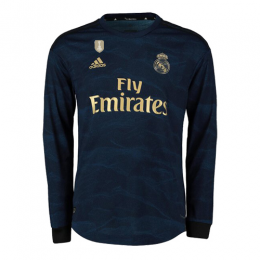 19/20 Real Madrid Away Navy Long Sleeve Jerseys Shirt