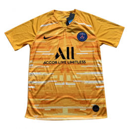 19/20 PSG Goalkeeper Yellow Soccer Jerseys Shirt
