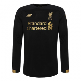 19-20 Liverpool Goalkeeper Black Long Sleeve Jerseys Shirt