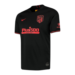 19/20 Atletico Madrid Away Black Soccer Jerseys Shirt(Player Version)
