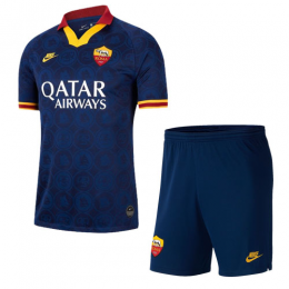 19/20 Roma Third Away Navy Soccer Jerseys Kit(Shirt+Short)
