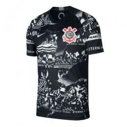 19/20 SC Corinthians Third Away Black&White Jerseys Shirt