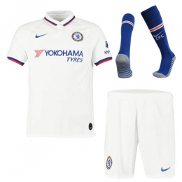 19/20 Chelsea Away White Soccer Jerseys Whole Kit(Shirt+Short+Socks)
