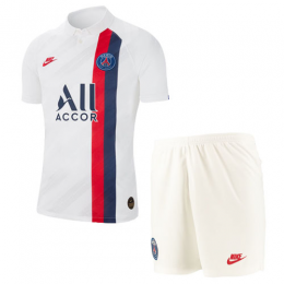 19/20 PSG Third Away White Soccer Jerseys Kit(Shirt+Short)