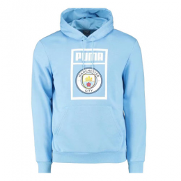 19/20 Manchester City Light Blue Hoodie Sweater
