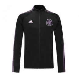 2019 Mexico Black&Purple High Neck Collar Tranining Jacket