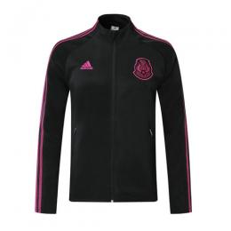 2019 Mexico Black&Rose Red High Neck Collar Tranining Jacket