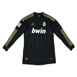 11-12 Real Madrid Away Black Retro Long Sleeve Jersey Shirt