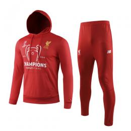 19/20 Liverpool Red Hoodie Sweat Shirt Kit(Top+Trouser)