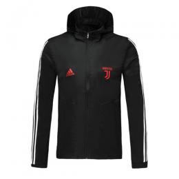 19/20 Juventus Black Hoodie Windrunner Jacket