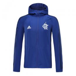 19/20 CR Flamengo Blue Hoodie Windrunner Jacket