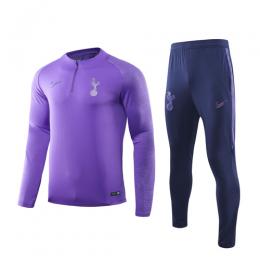 19/20 Tottenham Hotspur Purple Zipper Sweat Shirt Kit(Top+Trouser)