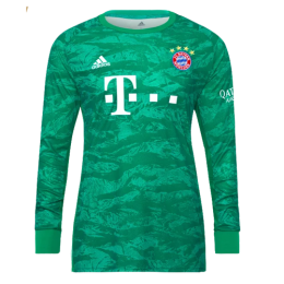 19-20 Bayern Munich Green Long Sleeve Goalkeeper Jerseys Shirt
