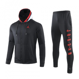 JORDAN Black Hoodie Training Kit(Jacket+Trouser)