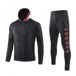 JORDAN Black Hoodie Training Kit(Jacket+Trouser)