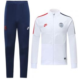19/20 PSG Snow White High Neck Collar Training Kit(Jacket+Trouser)