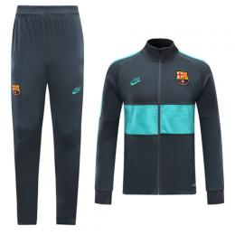 19/20 Barcelona Gray&Green High Neck Collar Training Kit(Jacket+Trouser)