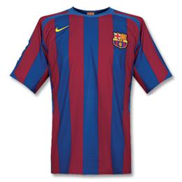 05/06 Barcelona Home Red&Blue Retro Soccer Jerseys Shirt