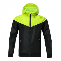 Customize Team Green Hoodie Windrunner Jacket