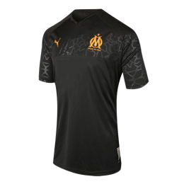 19/20 Marseille Third Away Black Jerseys Shirt