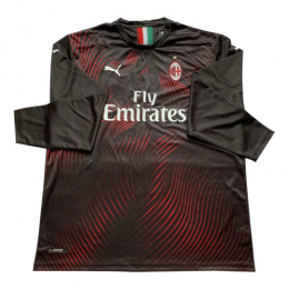 19/20 AC Milan Third Away Black Long Sleeve Jerseys Shirt