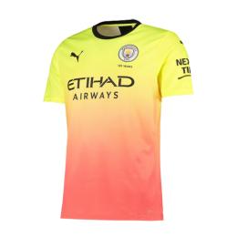 19/20 Manchester City Third Away Yellow&Orange Jerseys Shirt(Player Version)