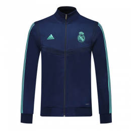 19/20 Real Madrid Blue High Neck Collar Training Jacket