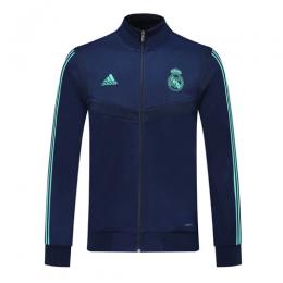 19/20 Real Madrid Blue High Neck Collar Training Jacket