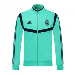 19/20 Real Madrid Green High Neck Collar Training Jacket