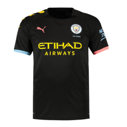 19/20 Manchester City Away Black Jerseys Shirt(Player Version)
