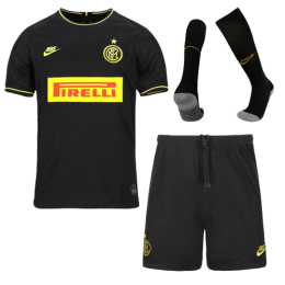 19/20 Inter Milan Third Away Black Soccer Jerseys Whole Kit(Shirt+Short+Socks)