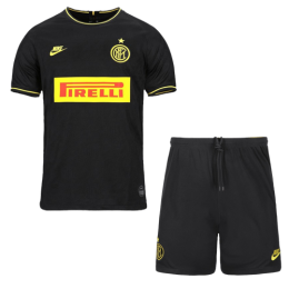 19/20 Inter Milan Third Away Black Soccer Jerseys Kit(Shirt+Short)