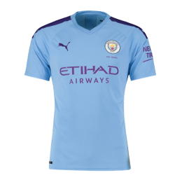 19/20 Manchester City Home Blue Jerseys Shirt(Player Version)