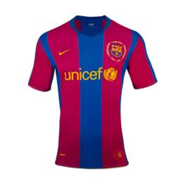 07-08 Barcelona Home 50-Years Anniversary Retro Jersey Shirt