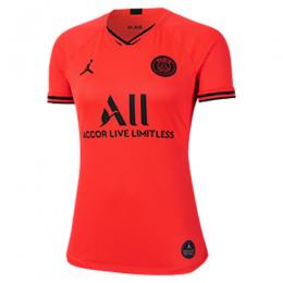 19/20 PSG Away Red&Orange Women's Soccer Jerseys Shirt