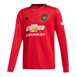 19-20 Manchester United Home Red Long Sleeve Jerseys Shirt