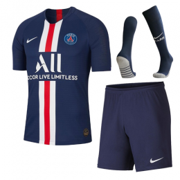 19-20 PSG Home Navy Soccer Jerseys Whole Kit(Shirt+Short+Socks)