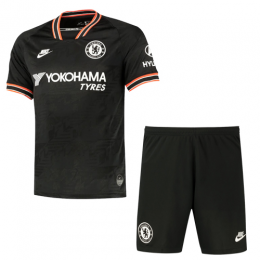 19/20 Chelsea Third Away Black Soccer Jerseys Kit(Shirt+Short)