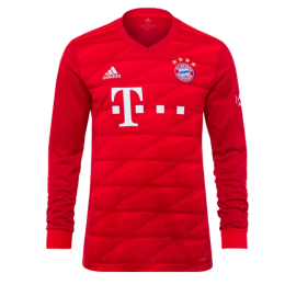 19-20 Bayern Munich Home Red Long Sleeve Jerseys Shirt